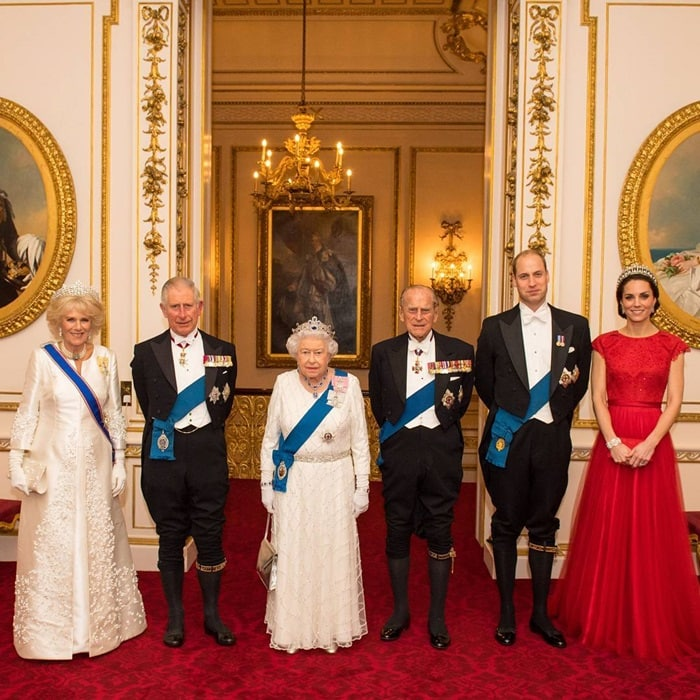 The Queen and the Royal Family welcome the world's Ambassadors and High Commissioners from the UK's diplomatic community to Buckingham Palace for the annual Diplomatic Reception.