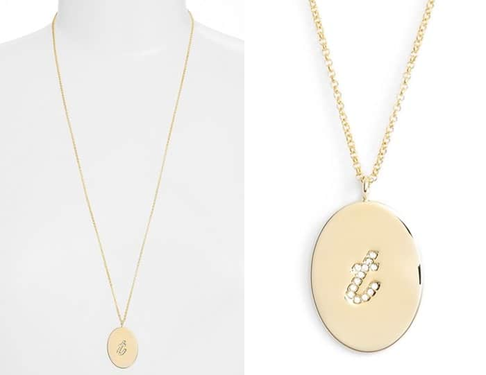 Kate Spade Initial Thoughts Pendant Necklace