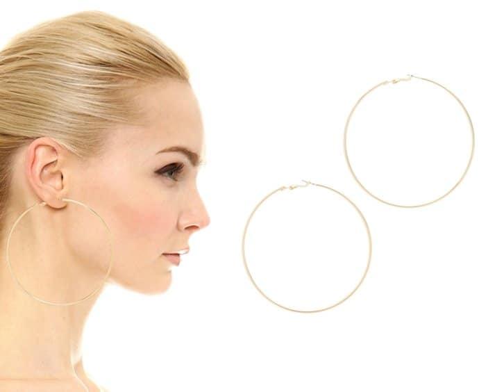 Kenneth Jay Lane Large Hoop Earrings