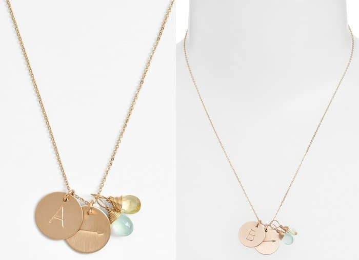 Nashelle Initial & Arrow Disc Necklace