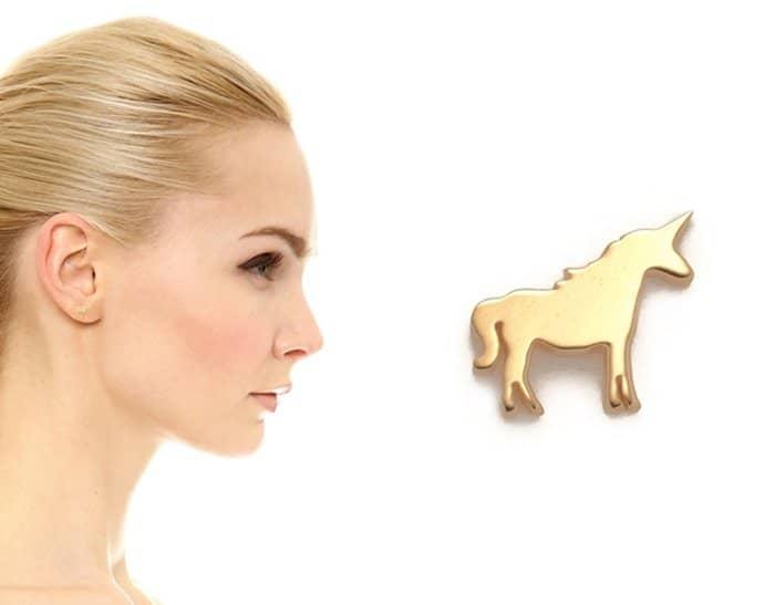 Ariel Gordon Jewelry The Menagerie Unicorn Stud Earring