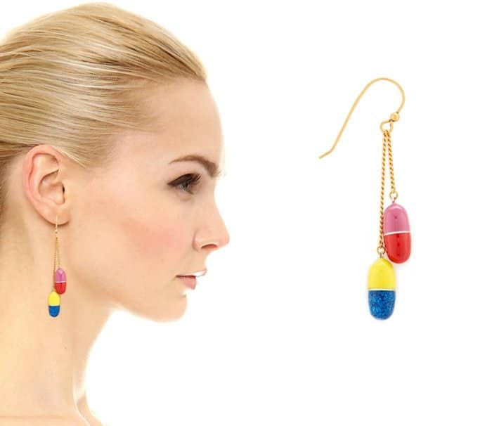 Marc Jacobs Pills Single Drop Earring