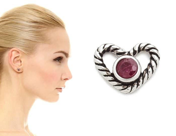 Marc Jacobs Rope Heart Single Stud Earring