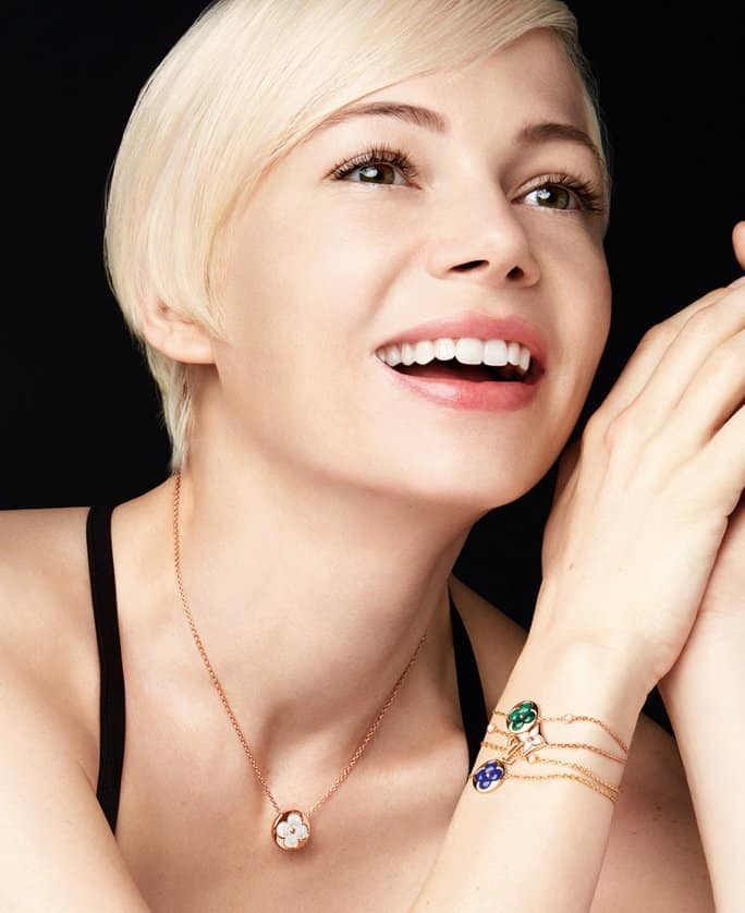 Michelle Williams stars in Louis Vuitton's BB Blossom Jewelry Campaign