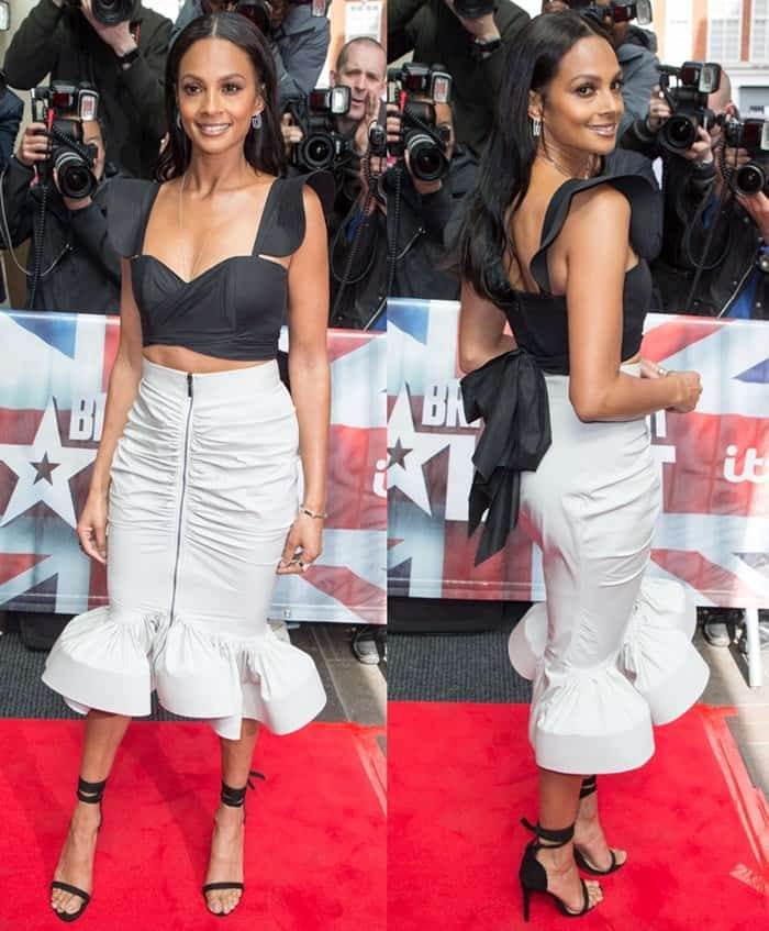 Alesha Dixon Britain's Got Talent launch held at London's Mayfair Hotel on April 12, 2017