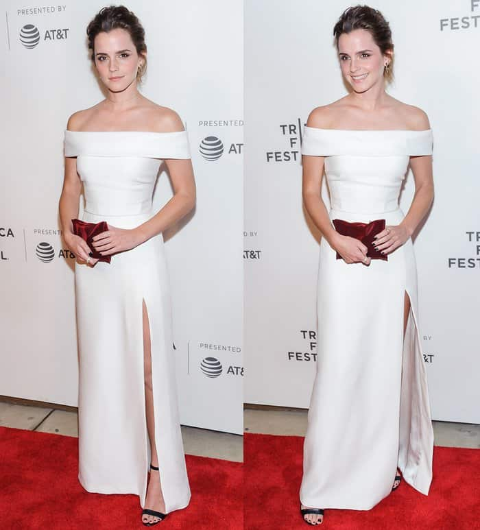 Emma Watson at the Tribeca Film Festival 2017 'The Circle' Premiere in New York