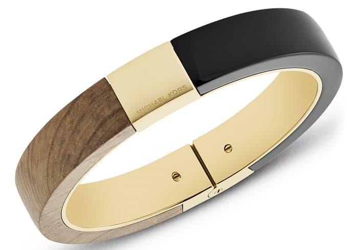 Michael Kors wooden hinged bracelet