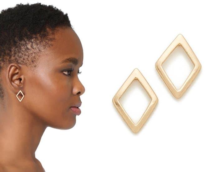 Shashi geometric stud earrings