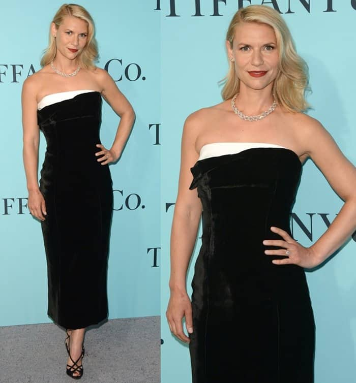 Claire Danes at the Tiffany & Co. 2017 Blue Book Collection Gala in New York.