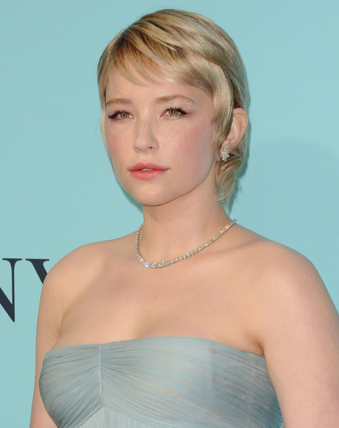 Haley Bennett at the Tiffany & Co. 2017 Blue Book Collection Gala in New York on April 21, 2017