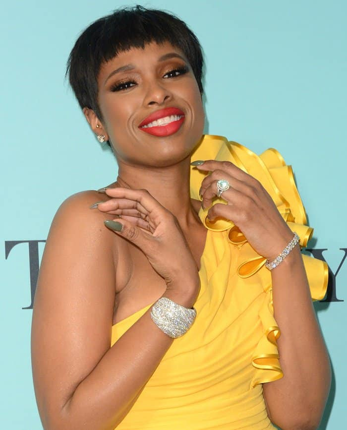 Jennifer Hudson at the Tiffany & Co. 2017 Blue Book Collection Gala in New York.