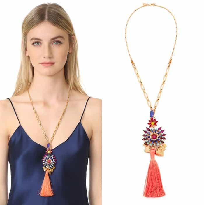 Elizabeth Cole Varro statement pendant necklace