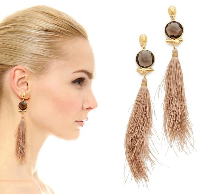 GAS Bijoux Serti Bella pompon earrings