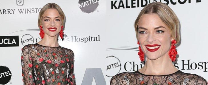 Jaime King Wears Festive Red Earrings toUCLA Children's Hospital Gala