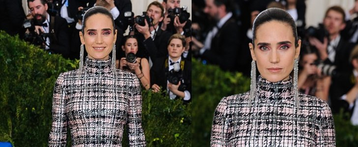 Jennifer ConnellyStands Out at Met Gala inLouis Vuitton Shoulder Duster Earrings