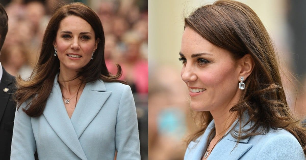 Kate Middleton Visits Luxembourg in Blue Topaz and Diamond ...