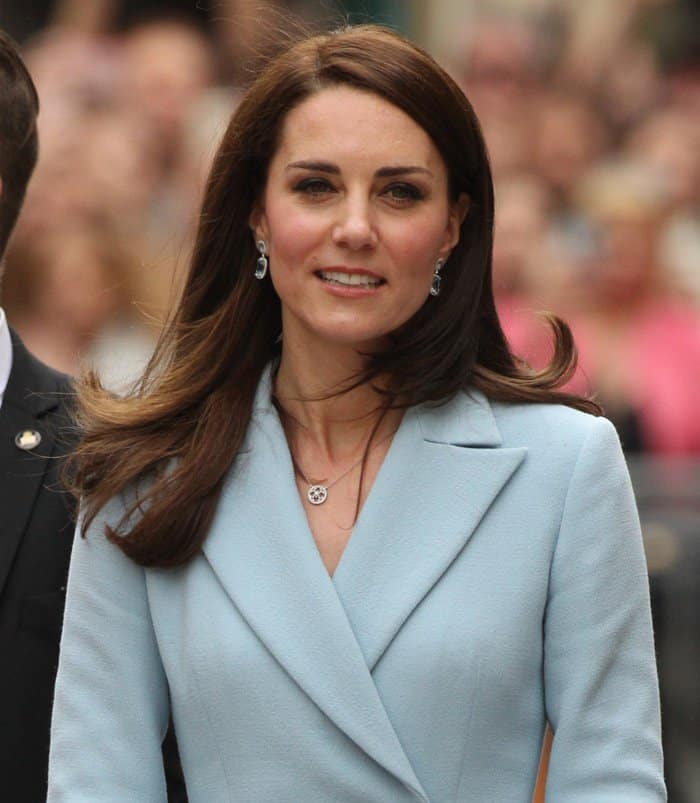 Duchess of Cambridge Kate Middleton visits Luxembourg Celebration of the 150th anniversary of the Treaty of London.