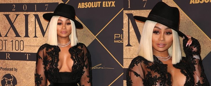 Blac Chyna Dons Diamond Necklace for Maxim Hot 100 Party
