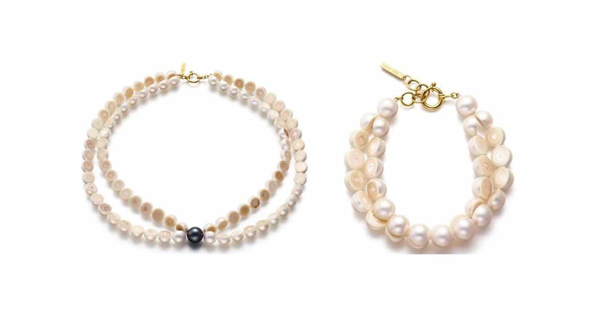 m g tasaki offers uniquely designed sliced pearl jewelry