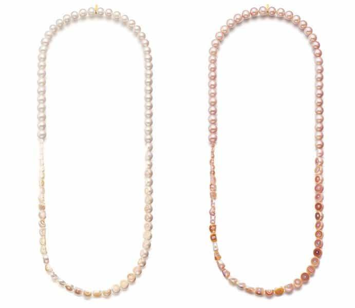 M/G Tasaki Offers Uniquely Designed Sliced Pearl Jewelry