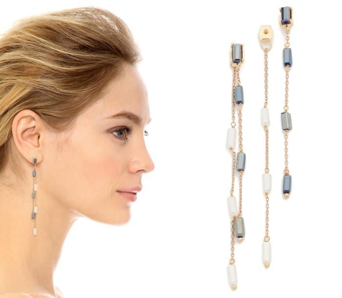 Theia Jewelry Rain Drop Front Back Earrings