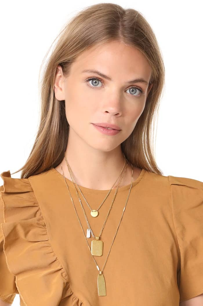 Madewell Multi Layer Pendant Necklace