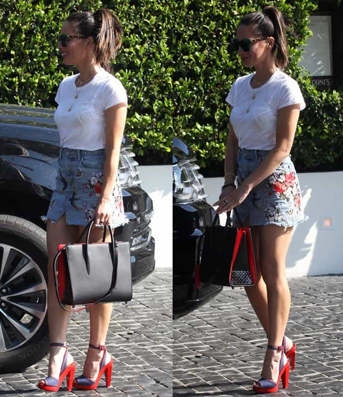 Olivia Munn having lunch at Cecconi's Restaurant in Beverly Hills.