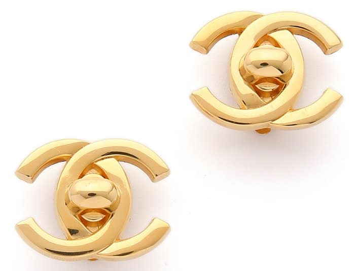 What Goes Around Comes Around Chanel Multi CC earrings