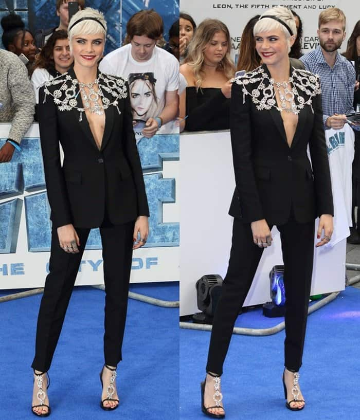 Cara Delevingne at the London premiere of Valerian and the City of a Thousand Planets.