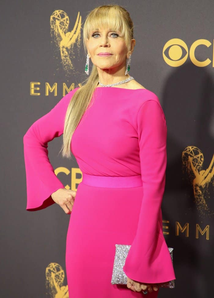 Jane Fonda at the 69th Emmy Awards At The Microsoft Theater In Los Angeles on September 17, 2017