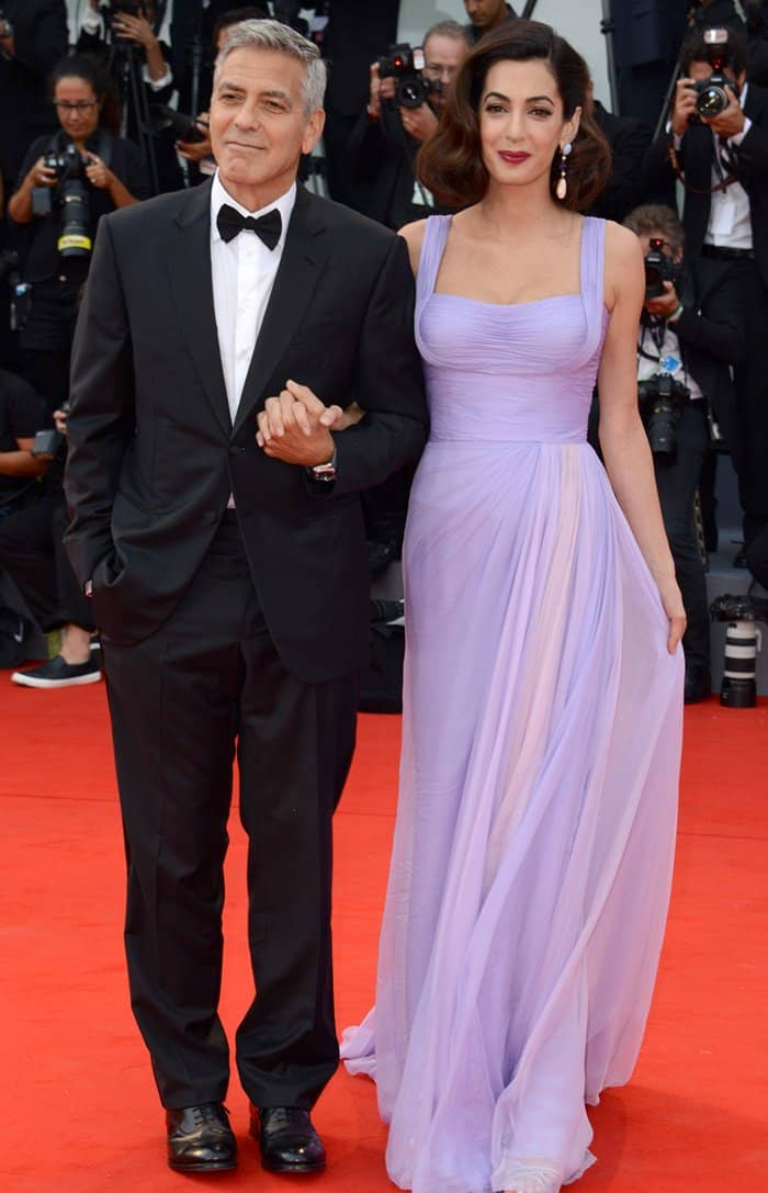 George Clooney at the Amal Clooney at the 74th Venice Film Festival.