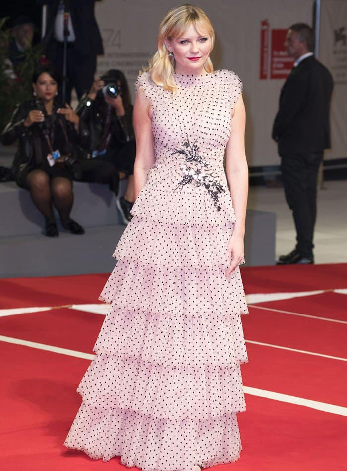Kristen Dunst wears Rodarte at the Venice Film Festival.