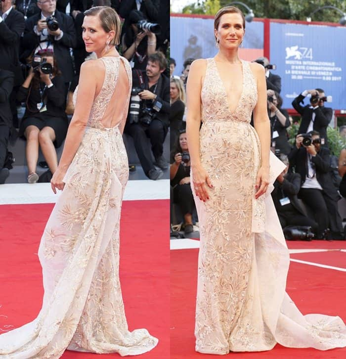 Kristen Wiig attends 'Downsizing' premiere at the Venice Film Festival.
