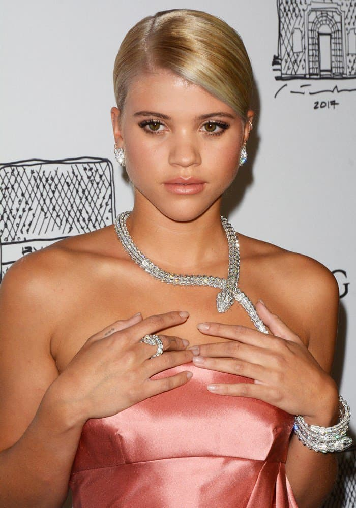 Sofia Richie attends the Bvlgari Flagship Store Reopening in New York.