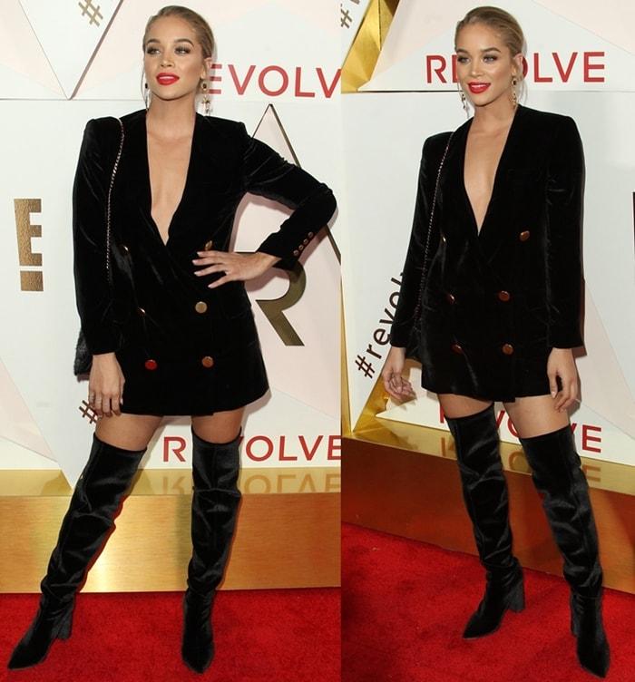 Jasmin Sanders attends the Revolve Awards in California.