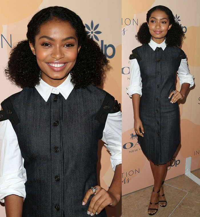 Yara Shahidi wearing a John Hardy snake ring at the 14th annual Inspiration Awards luncheon on June 3, 2017