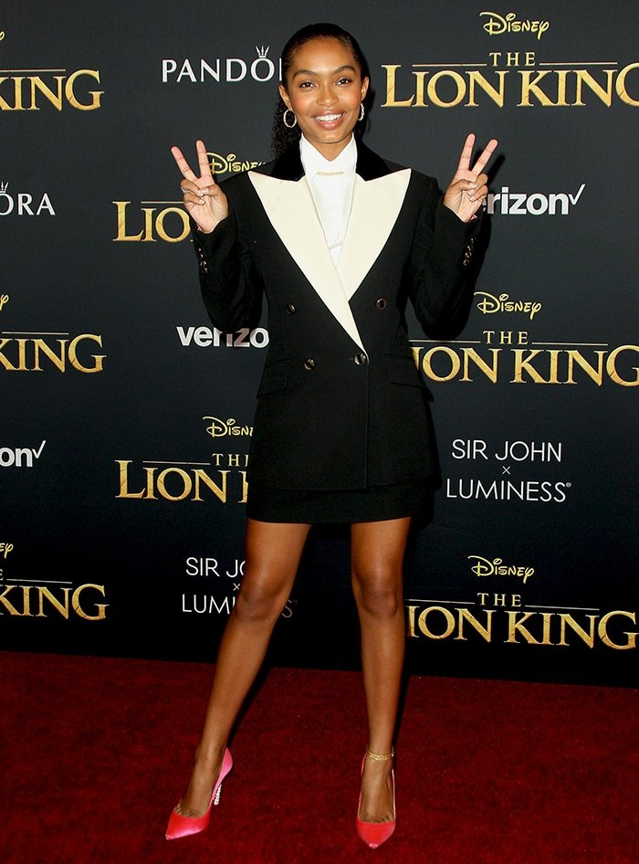 "Yara Shahidi at the world premiere of Disney's ""The Lion King"" held at Dolby Theatre in Hollywood on July 9, 2019"