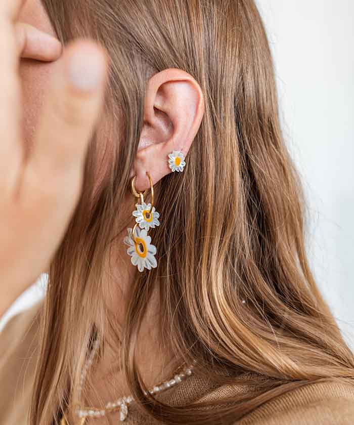 Wald Berlin is known for its use of natural elements just like the Daisy Just a Friend earrings