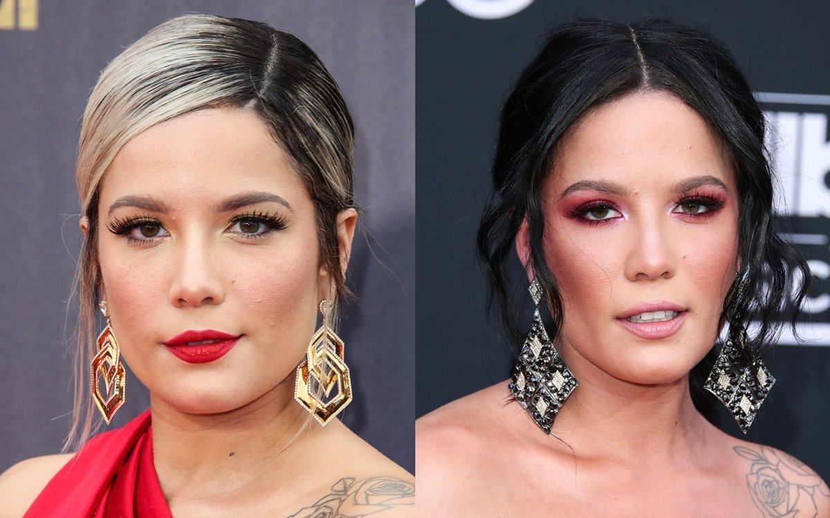 Halsey wears Lorraine Schwartz earrings at the 2018 MTV Movie And TV Awards and the 2018 Billboard Music Awards