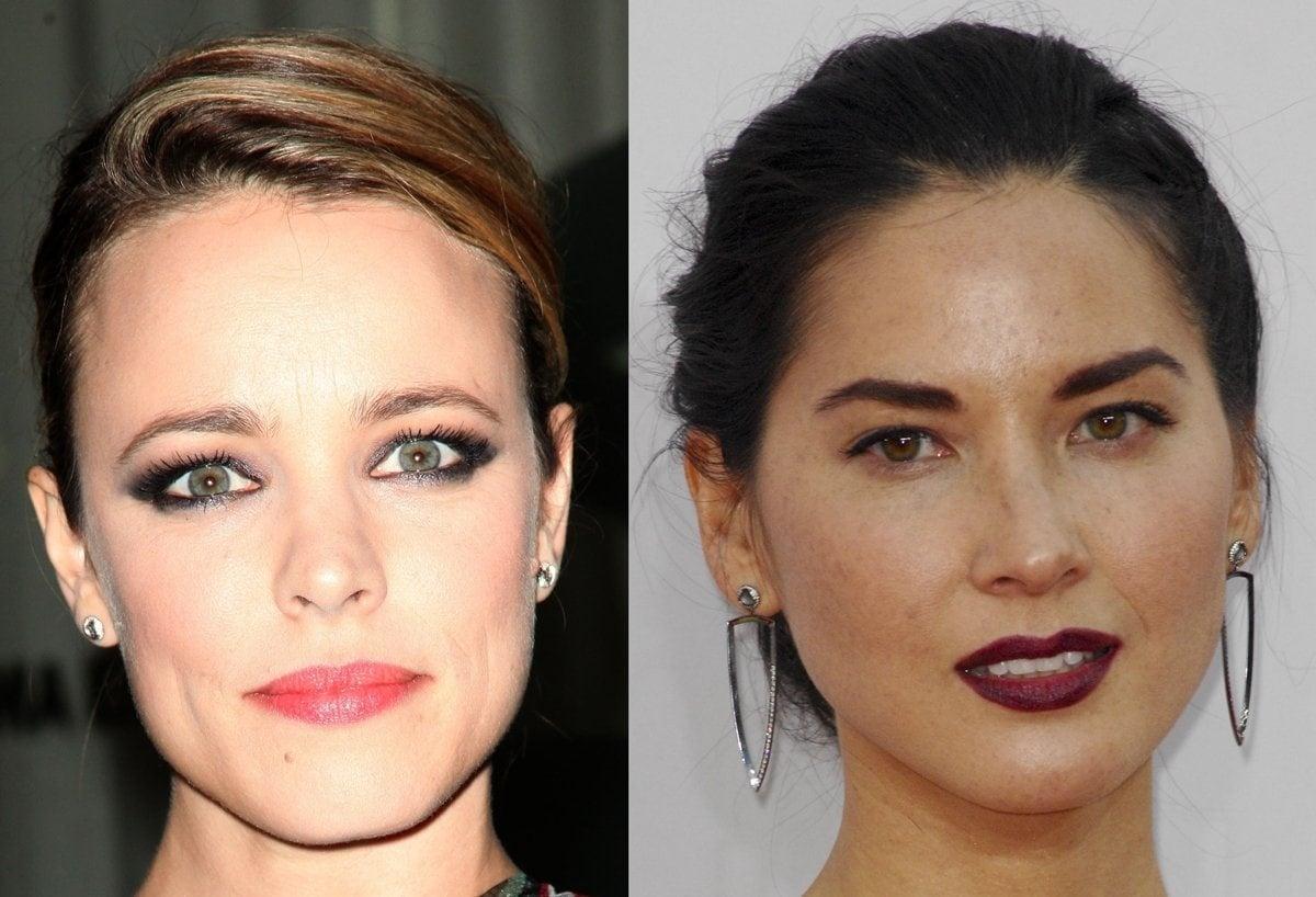Rachel McAdams and Olivia Munn wear earrings by New York-based fine jewelry designer Melissa Kaye